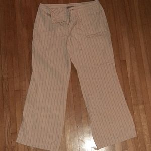 London Jean striped cotton pants